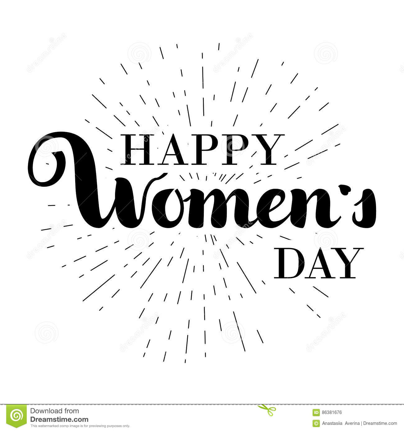 happy woman s day gift card march 8 hand written cursive lettering