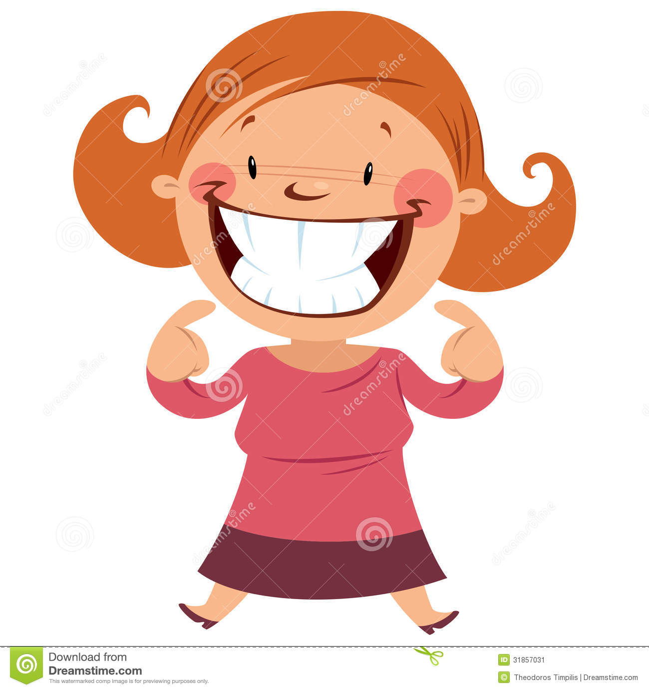 Happy Woman Smiling Showing Her Smile And Teeth Stock Image - Image ...