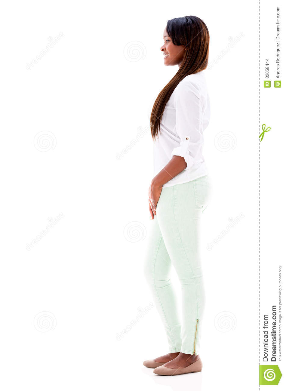 happy-woman-walking-to-side-isolated-ove
