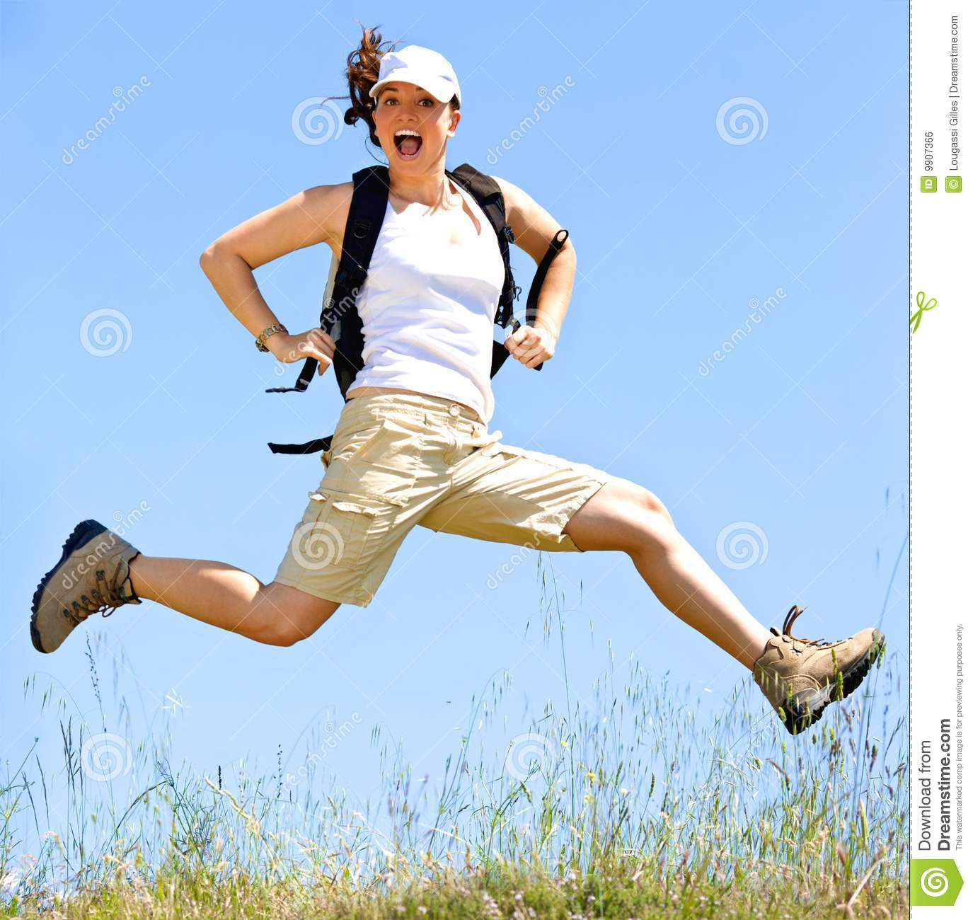 Happy Women Jump Royalty Free Stock Image Image 9907366