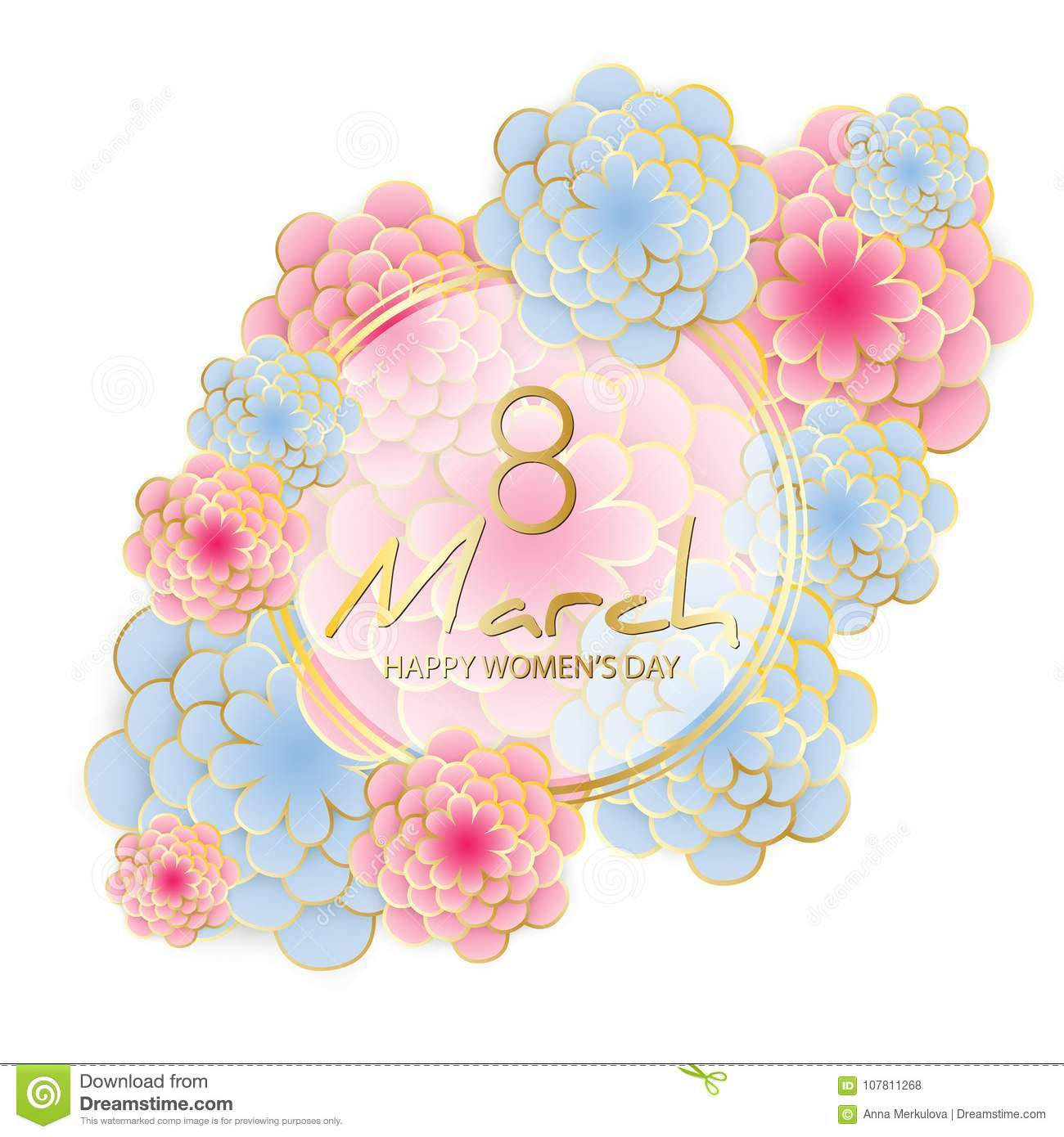 Happy Women`s Day greeting card
