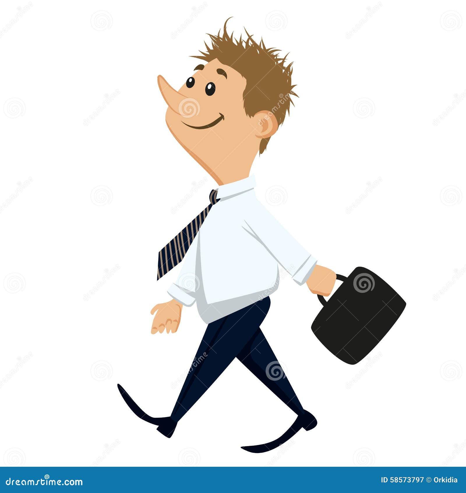 Happy Working Man Stock Vector - Image: 58573797