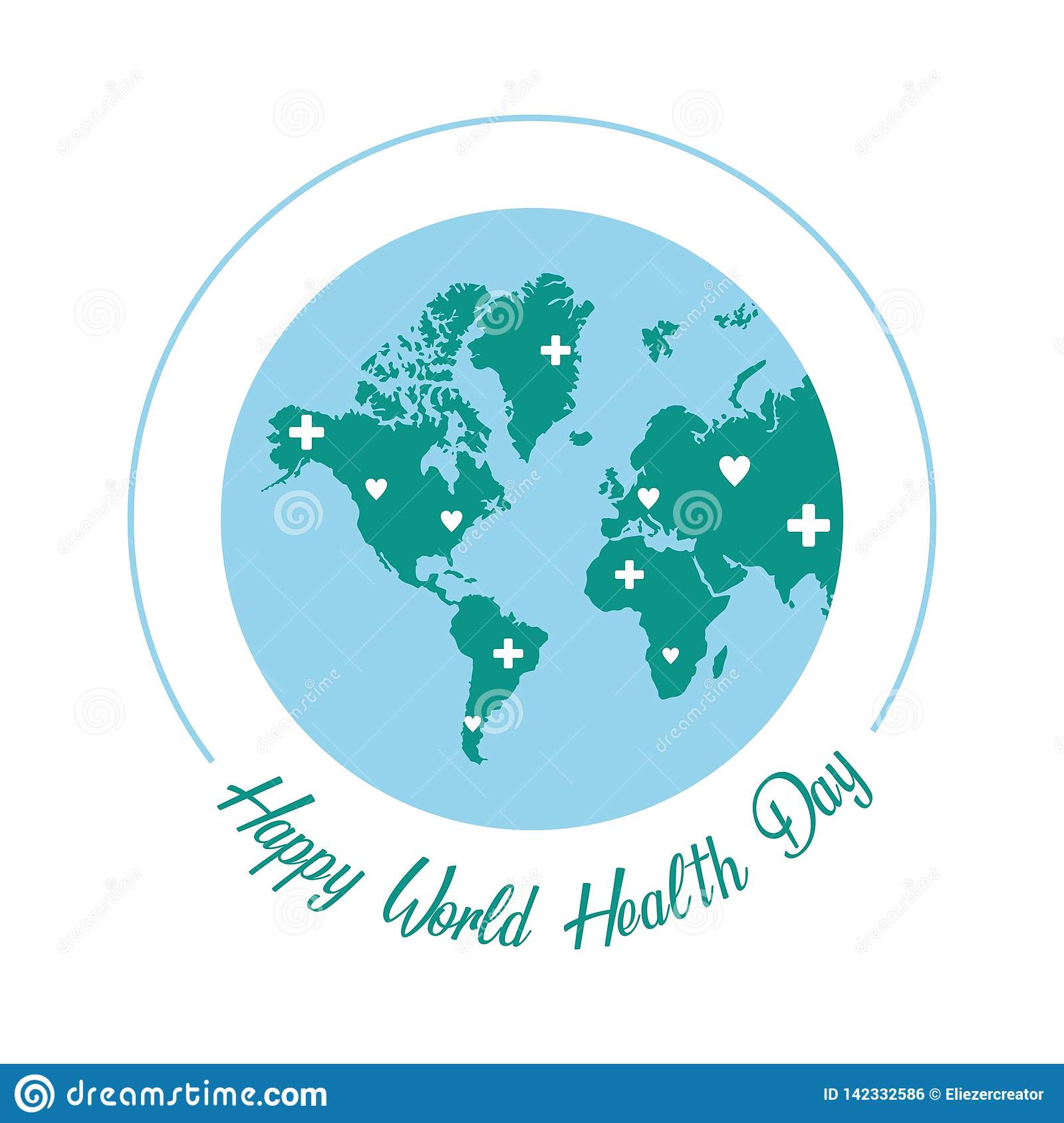World Health Day Red Apple Cartoon Vector Illustration. Royalty Free  Cliparts, Vectors, And Stock Illustration. Image 101097470.