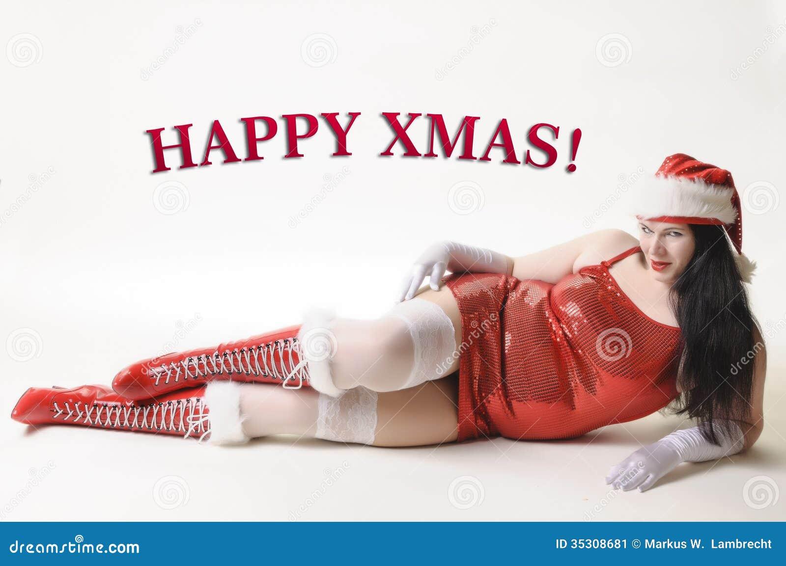 Happy XMAS! stock image. Image of oversize, model, december - 35308681