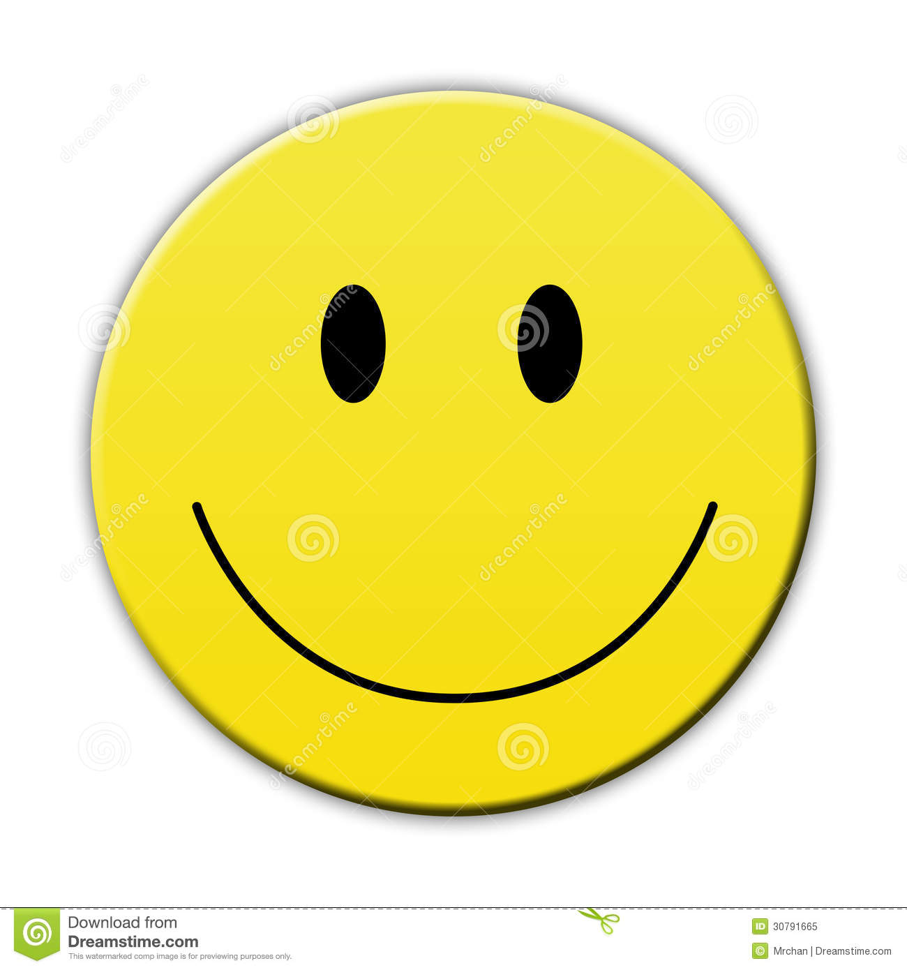Happy Yellow Smile Face Royalty Free Stock Photo - Image: 30791665