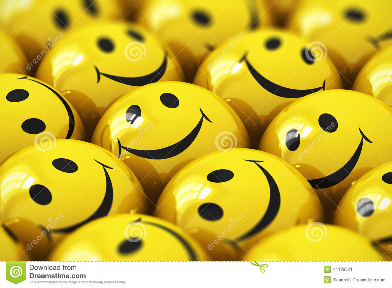 Happy Yellow Smileys Stock Illustration - Image: 41129621