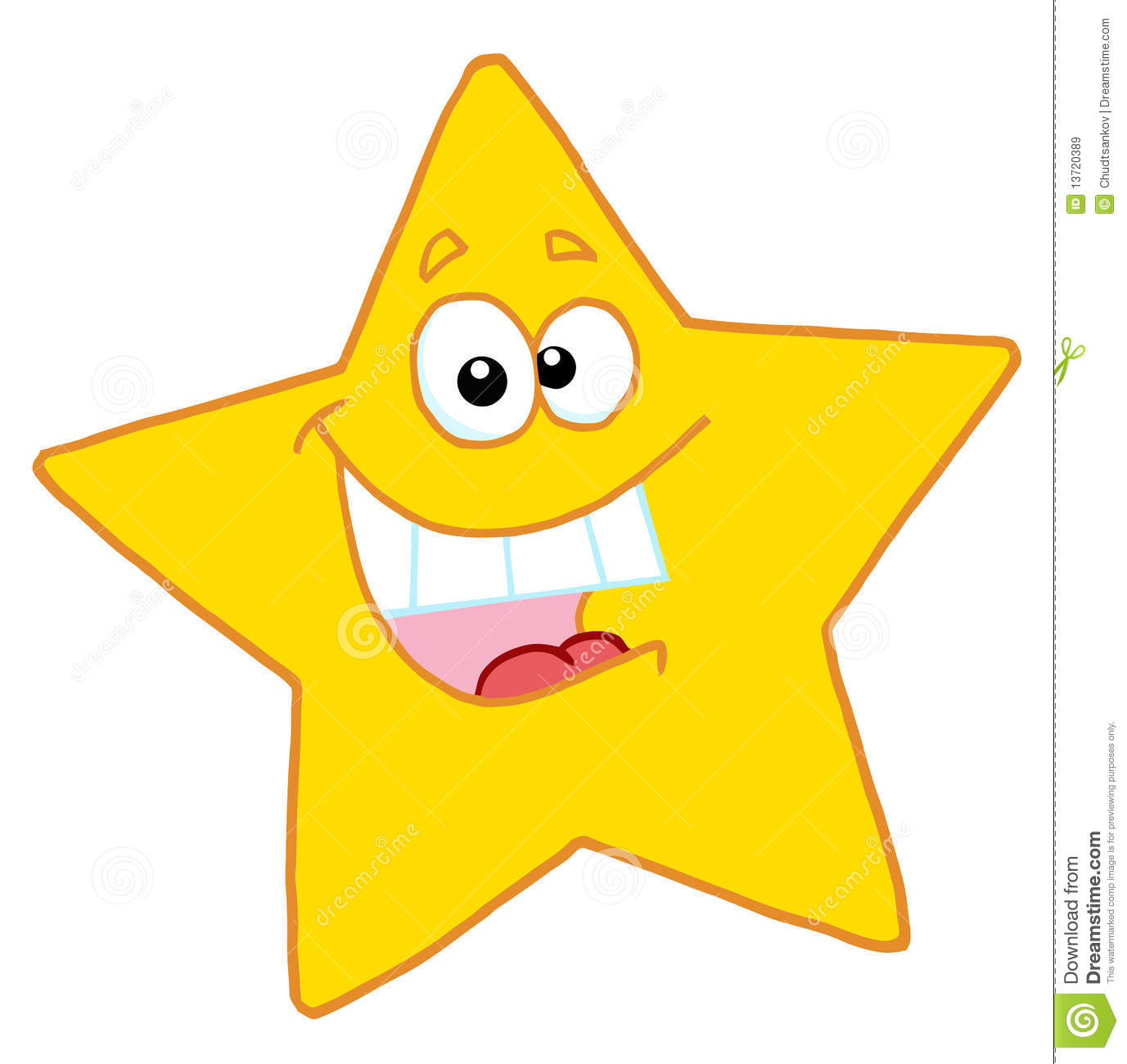 Happy Yellow Star Smiling Royalty Free Stock Images - Image: 13720389