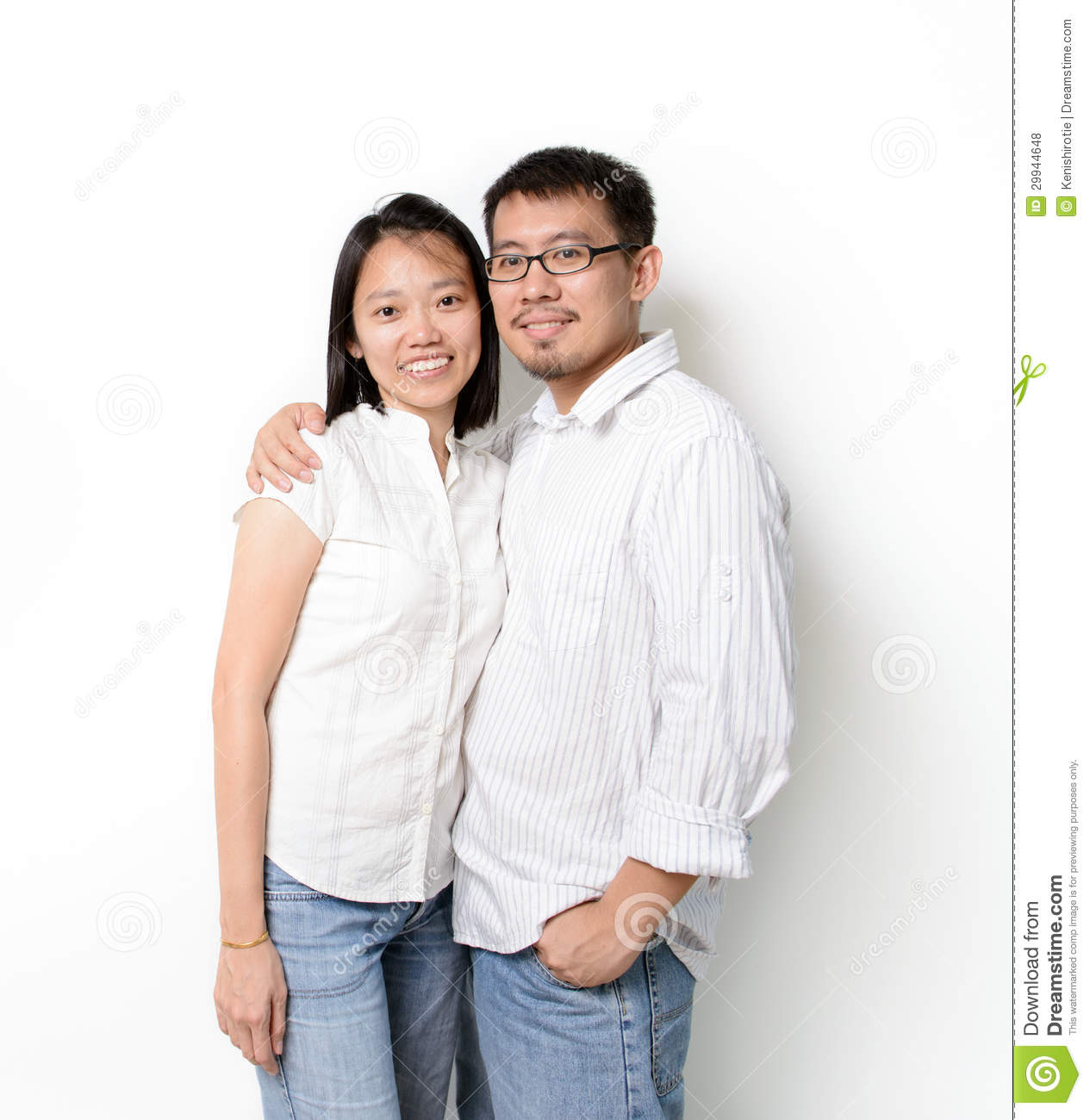 Happy Young Couples Royalty Free Stock Photos