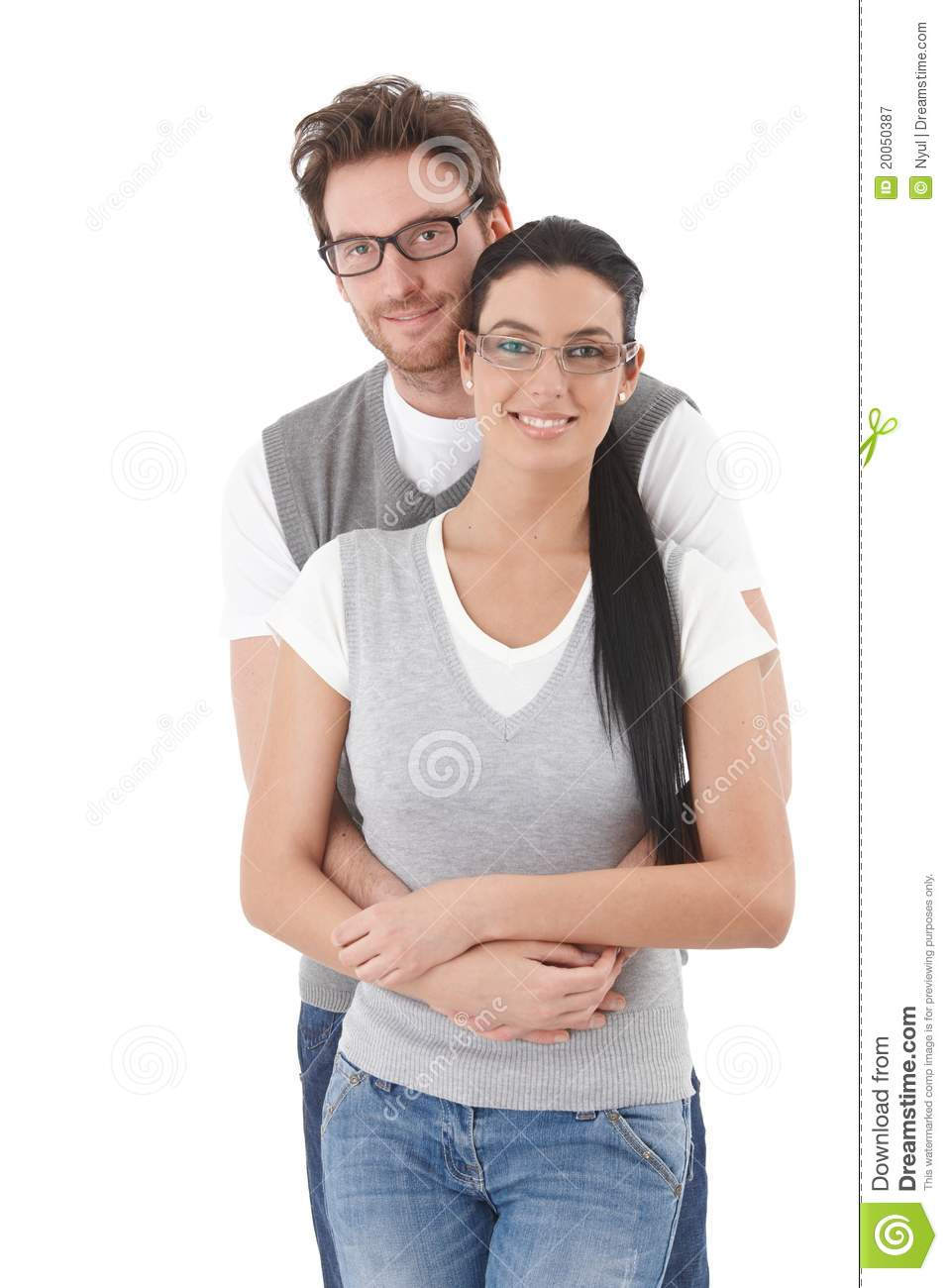 Young Happy Smiling African American Black Teen Girl With: Happy Young Couple Hugging Each Other Stock Image