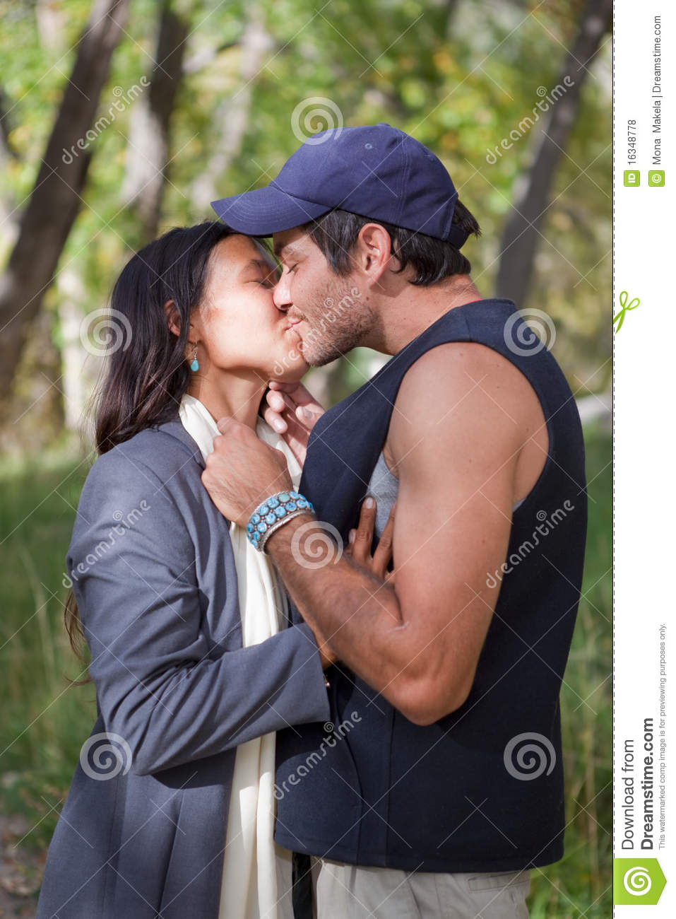 Happy young couple kissing stock photo image of male 16348778 happy young couple kissing thecheapjerseys Choice Image
