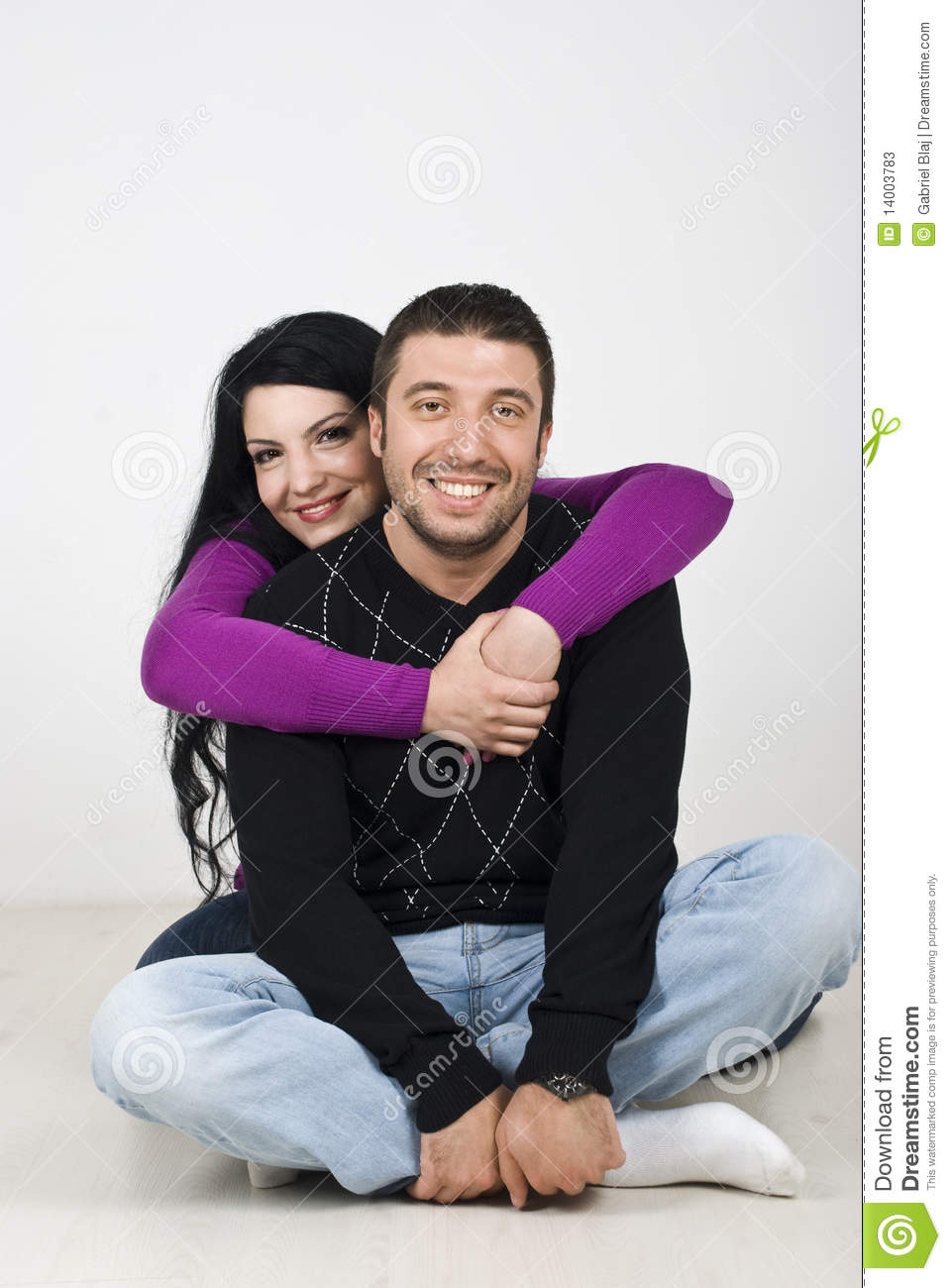 Young Happy Smiling African American Black Teen Girl With: Happy Young Couple Loving And Hugging Stock Photos