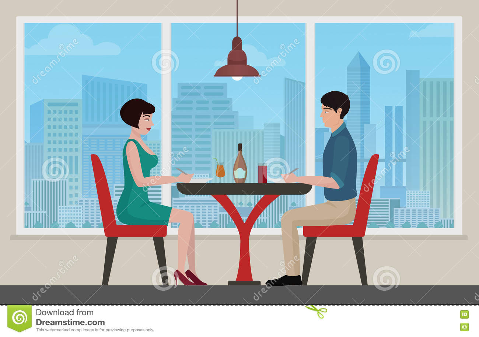 Cartoon restaurant free vector graphic download - Royalty Free Vector Cafe Cartoon