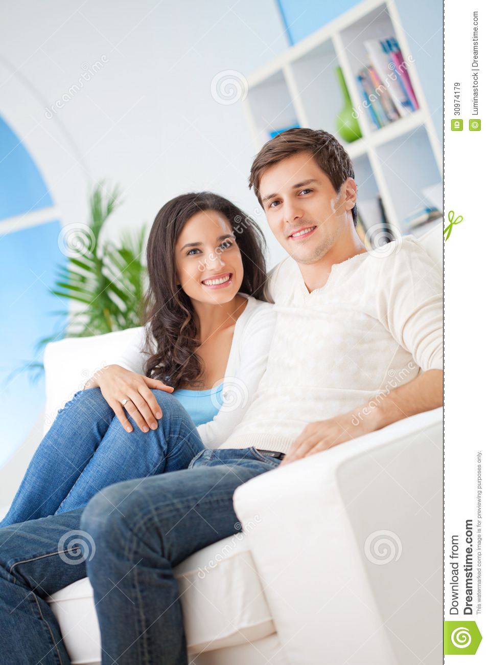 Happy young couple royalty free stock images image 30974179 for Young modern living room