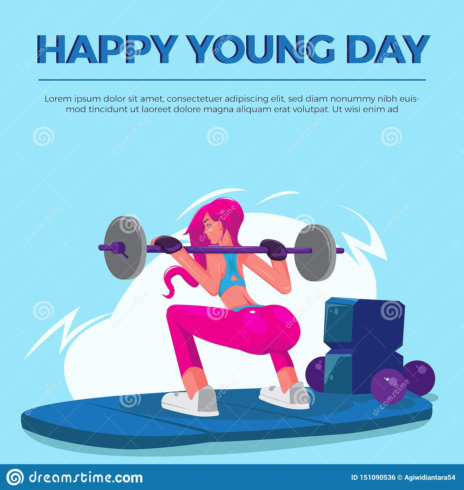 Happy Young Day women gym