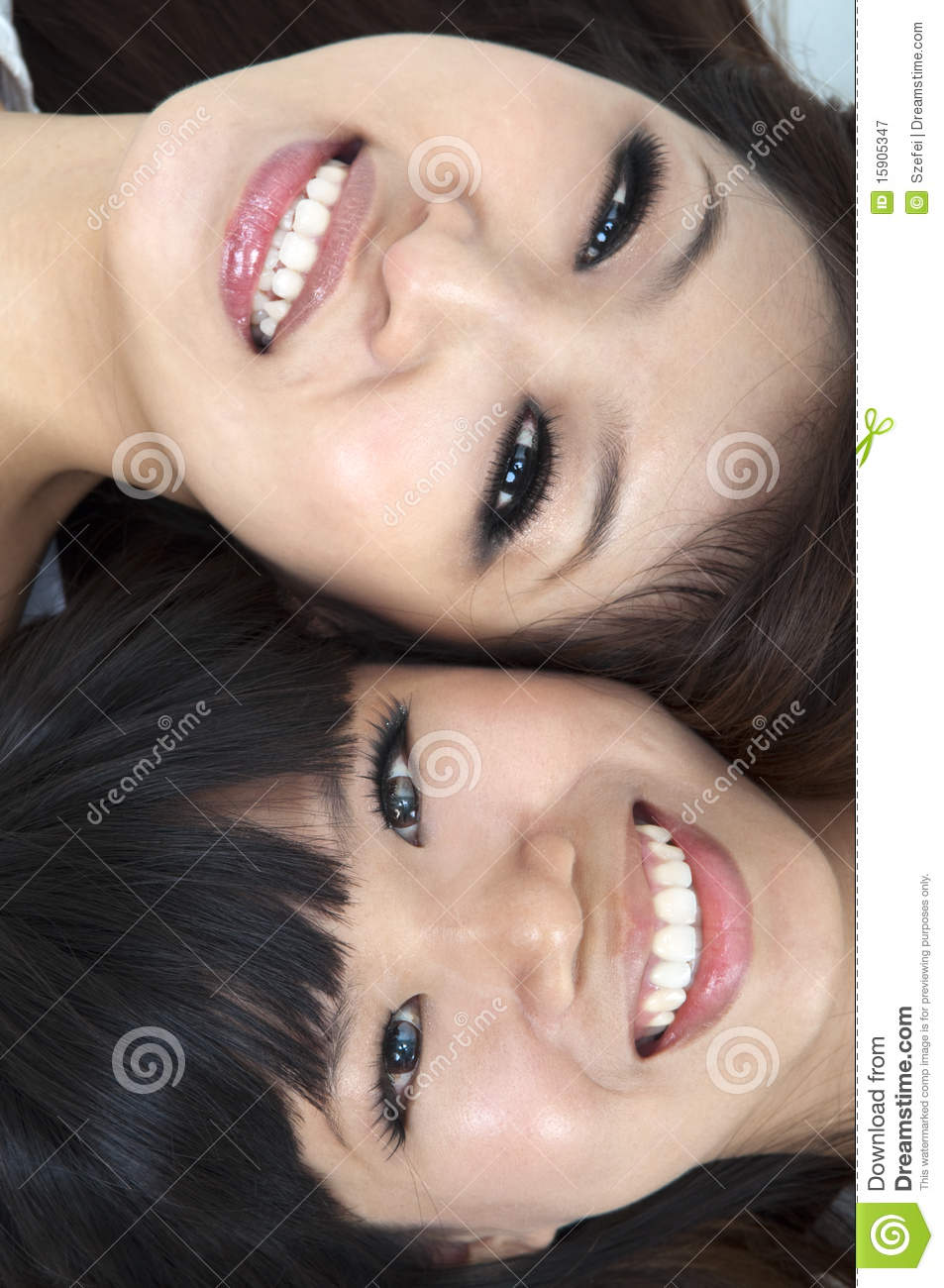 Happy young girls