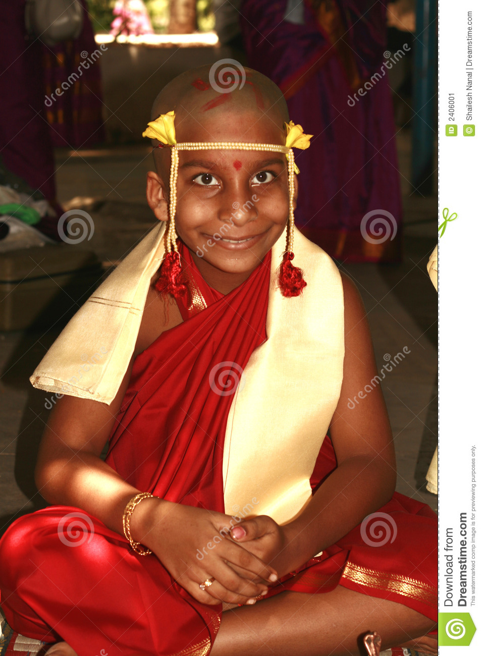 Young Happy Smiling African American Black Teen Girl With: Happy Young Indian Monk Stock Image