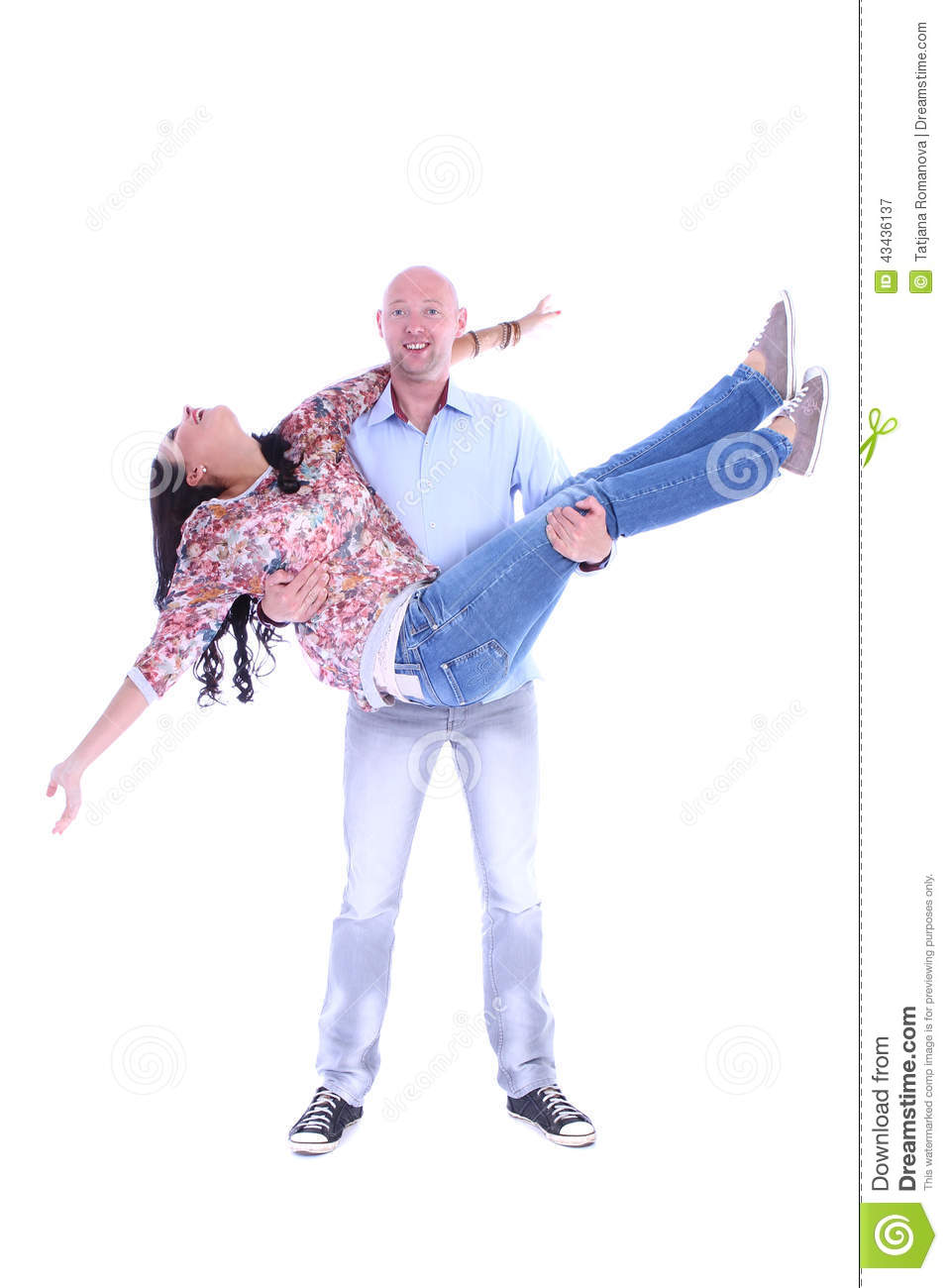 Happy young loving couple