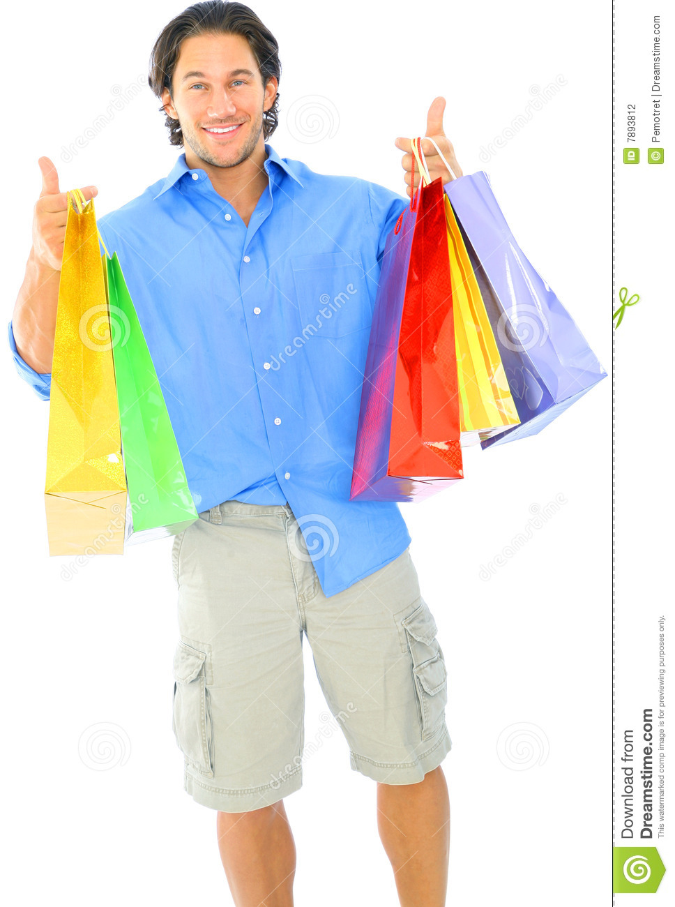 Happy Young Man Carrying Shopping Bag Stock Photography - Image ...