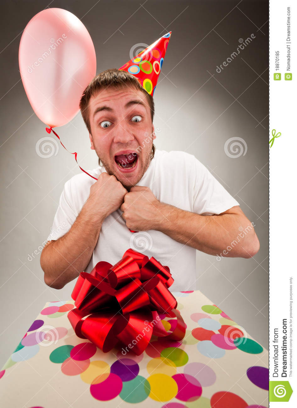 Young Happy Smiling African American Black Teen Girl With: Happy Young Man Celebrating Birthday Royalty-Free Stock