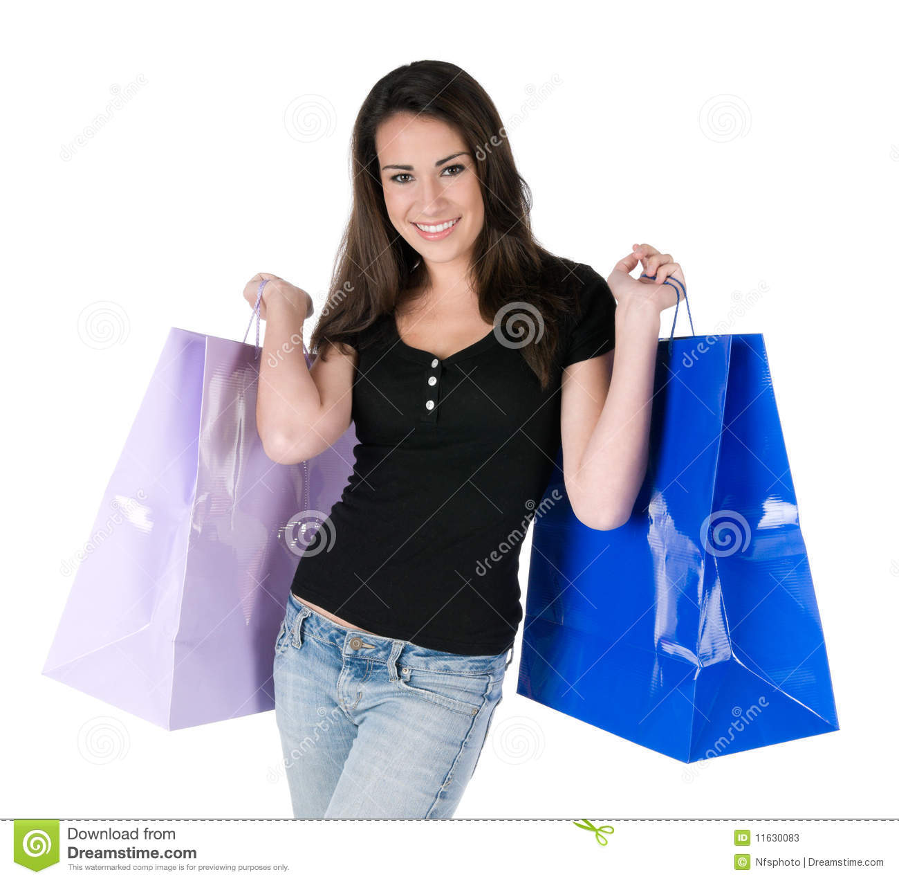Innovative Woman In Apron Holding Grocery Bag Stock Photo - Image 6525860