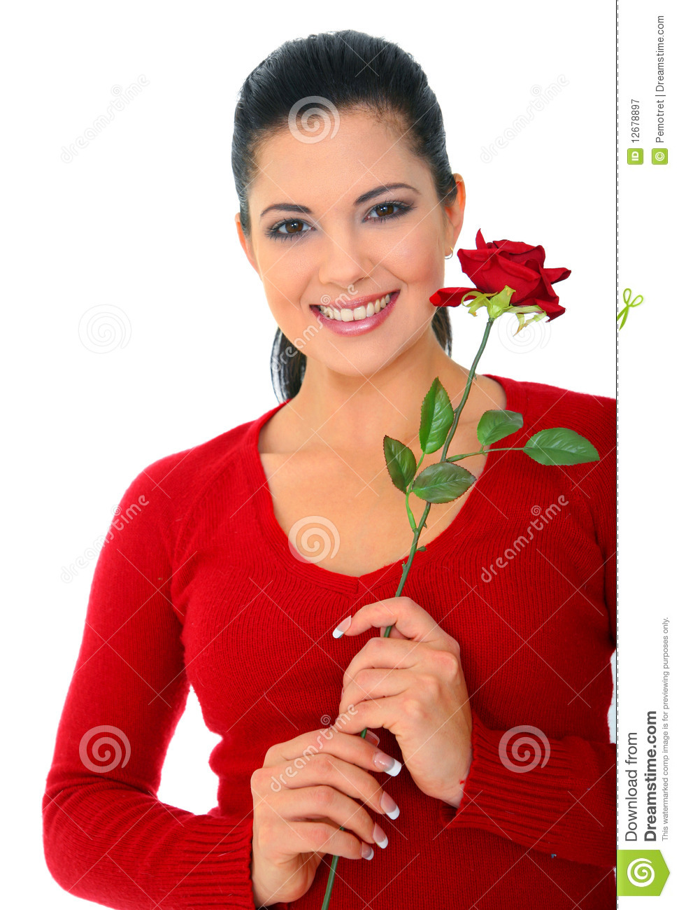 Happy Young Woman In Love stock image. Image of beautiful ...