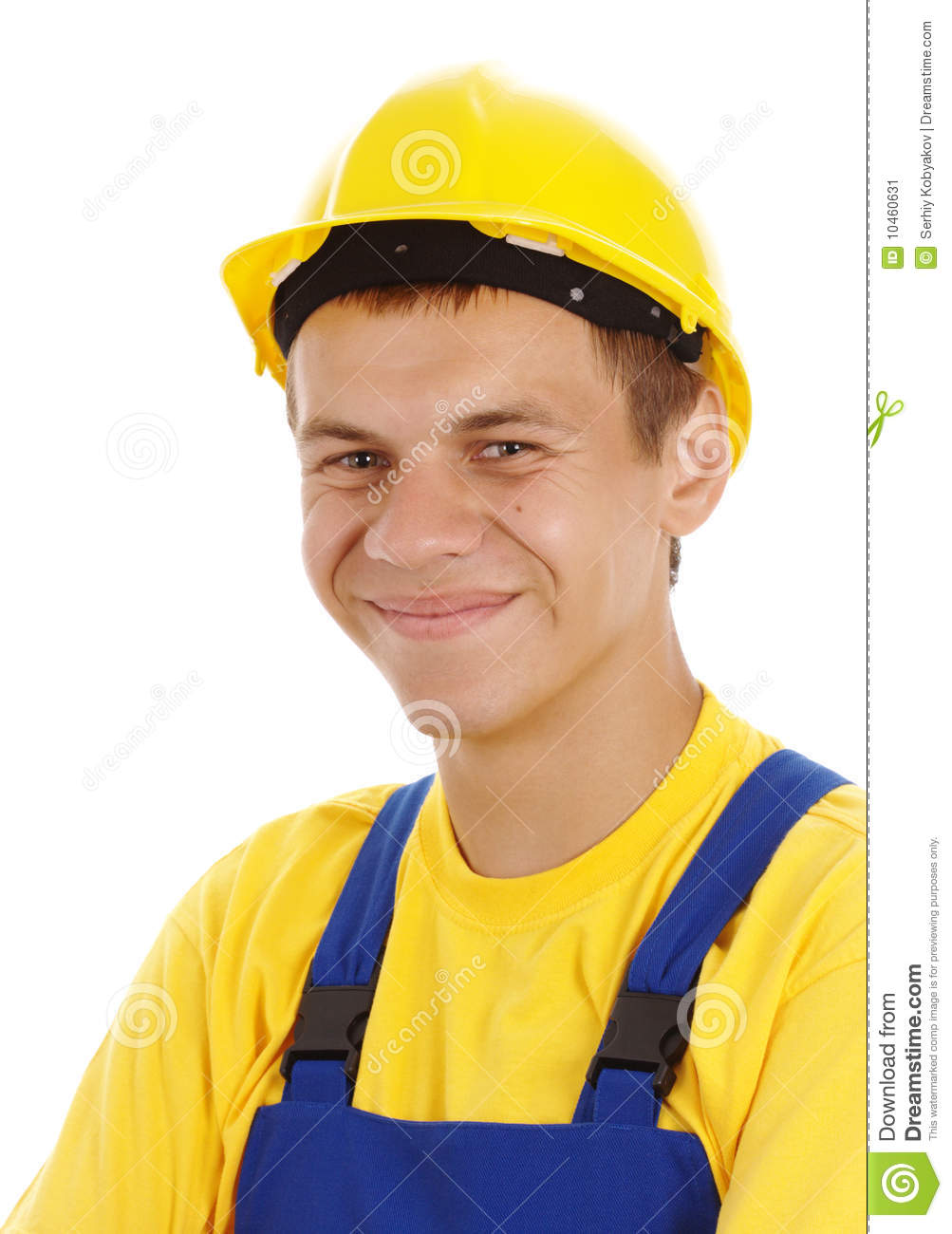 Young Happy Smiling African American Black Teen Girl With: Happy Young Worker Wearing Hard Hat Stock Image