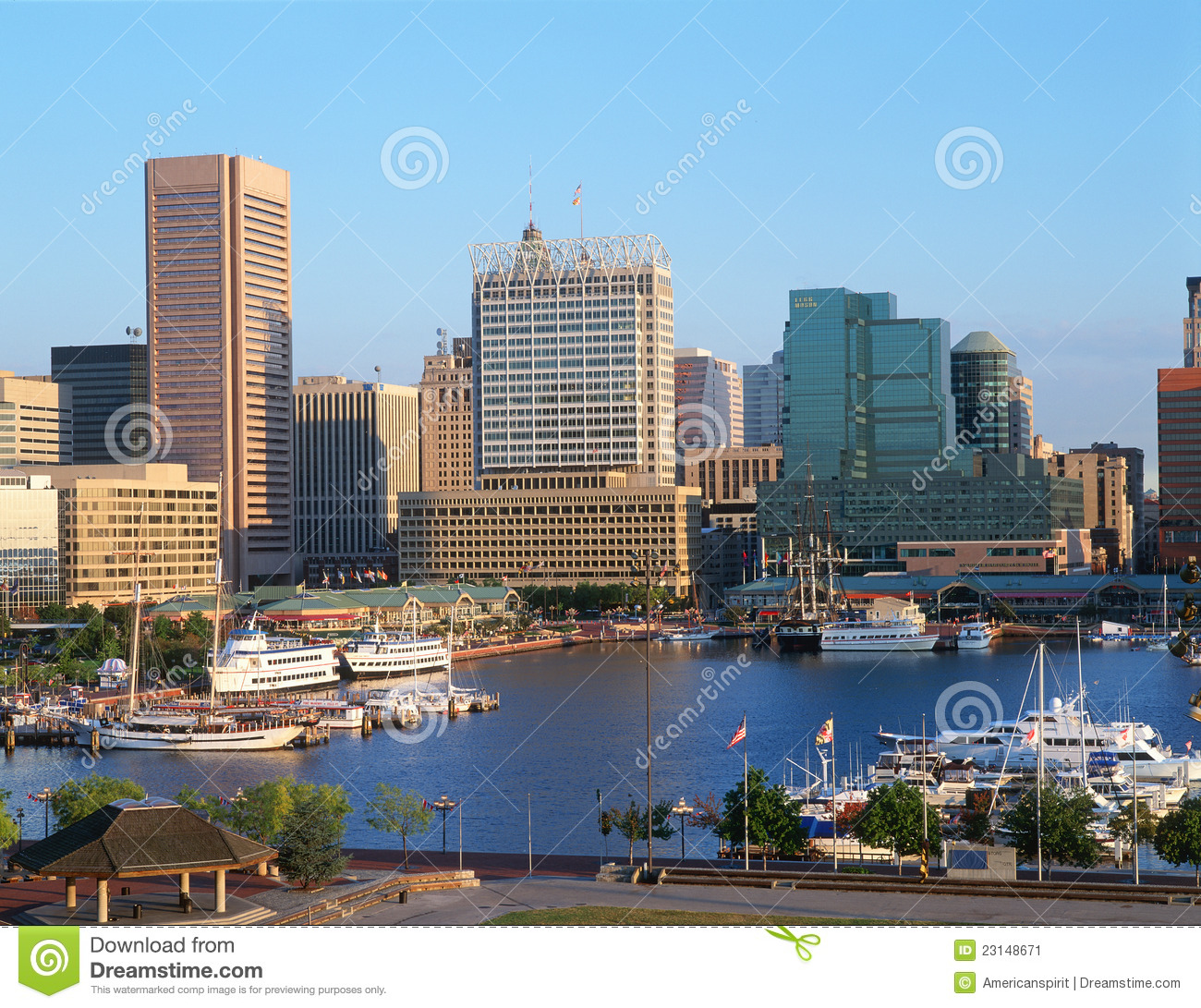 Harbor and Baltimore, MD skyline