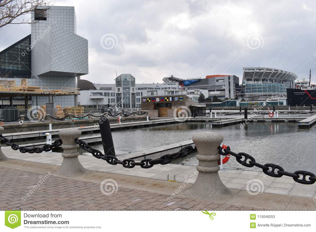 Harbor Of Cleveland In Ohio, USA Editorial Stock Photo - Image of