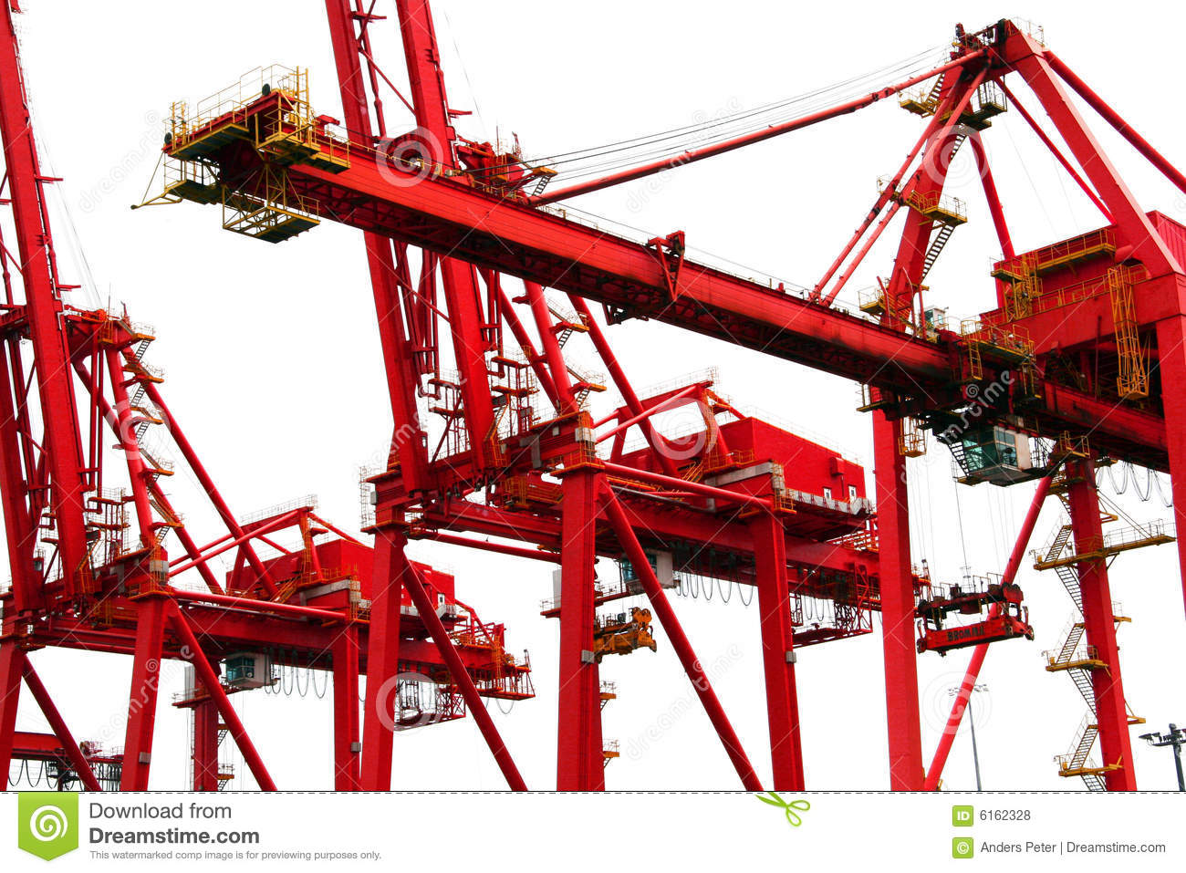 Overhead Cranes Vancouver Bc : Harbor cranes royalty free stock photos image