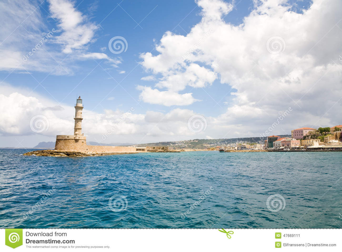 Harbor Of Old Town Chania Stock Photo - Image: 47669111