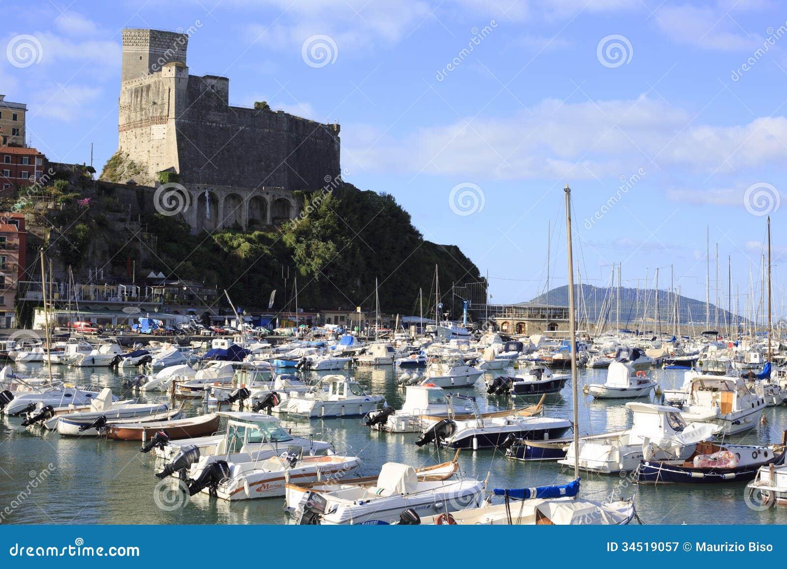 Harbor and old town of lerici editorial photography for Marletto arredamenti la spezia
