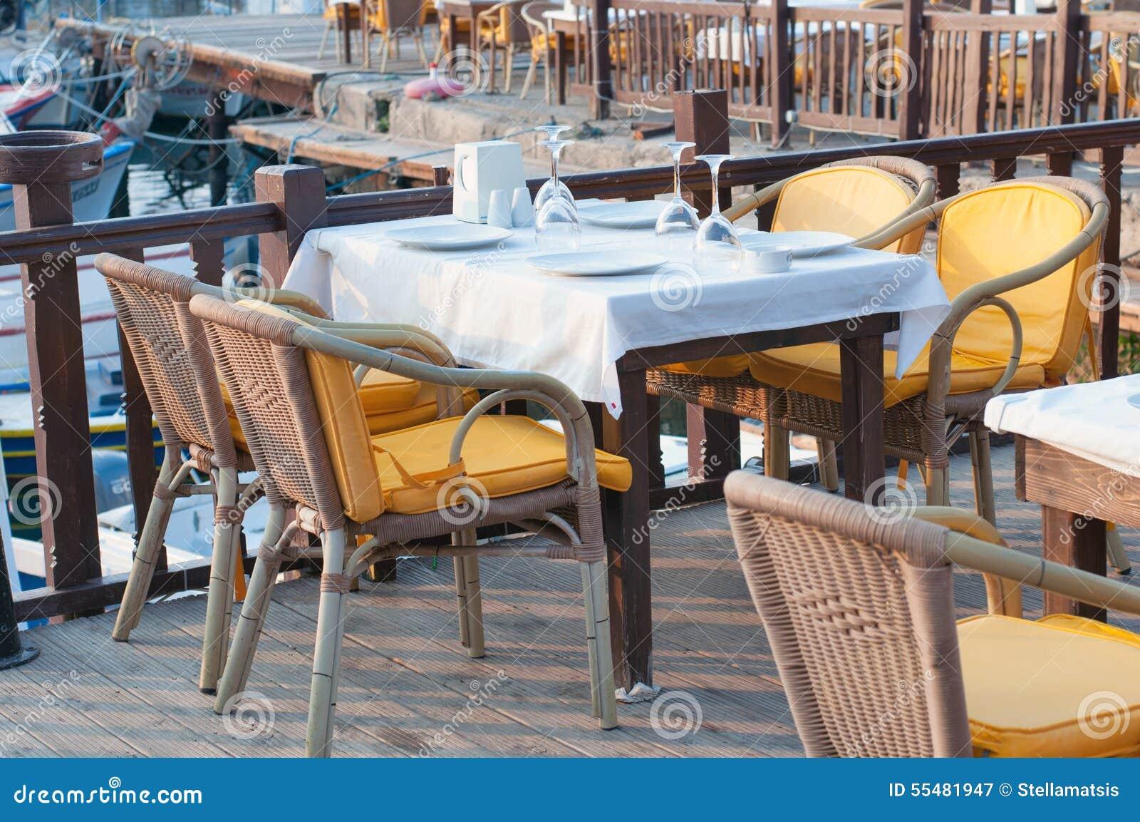 Harbor restaurant stock photo image