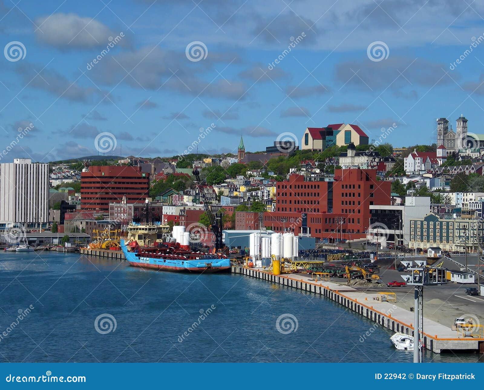 Harborfront miasta.