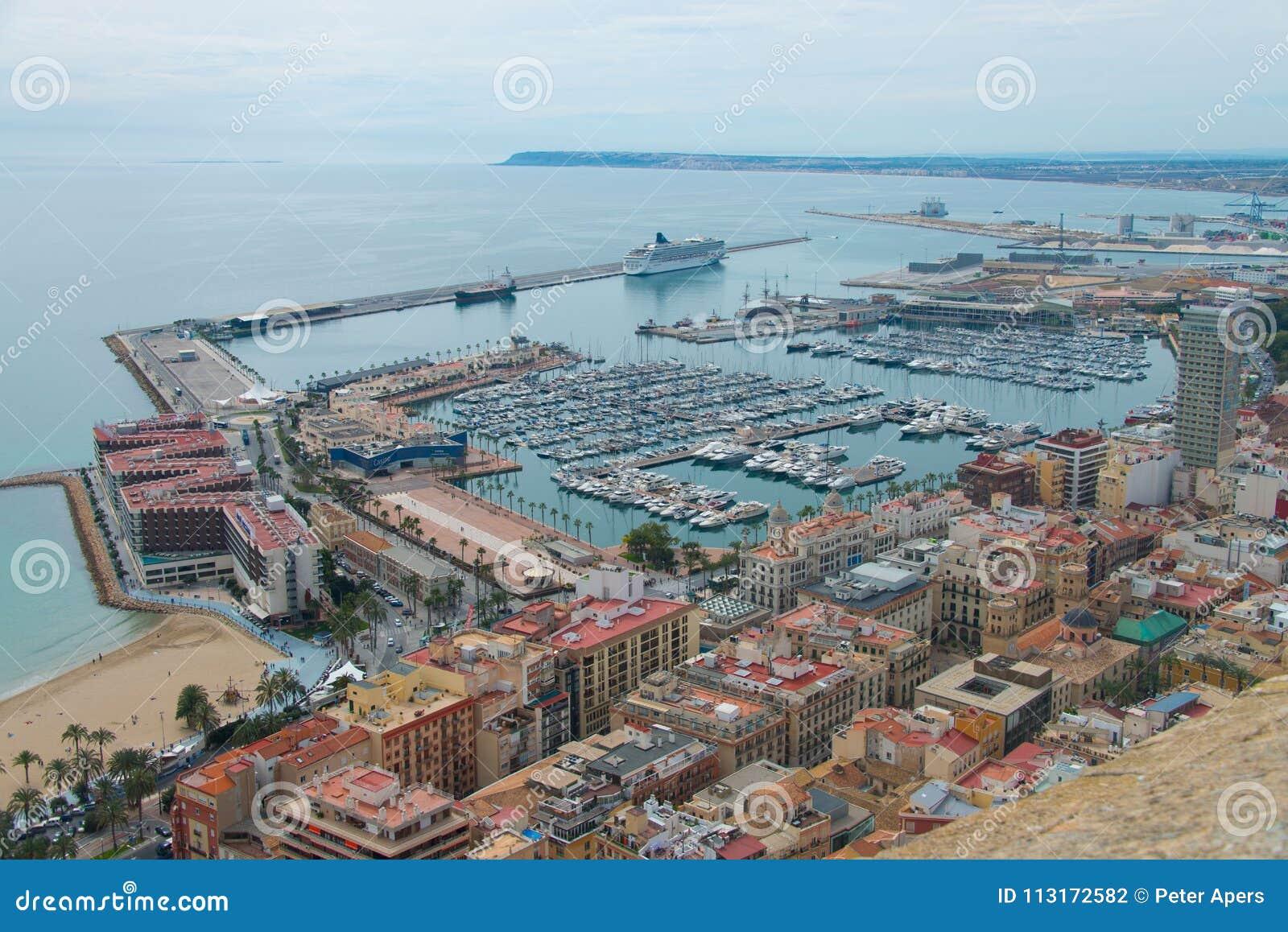 Harbour of Alicante in Spain
