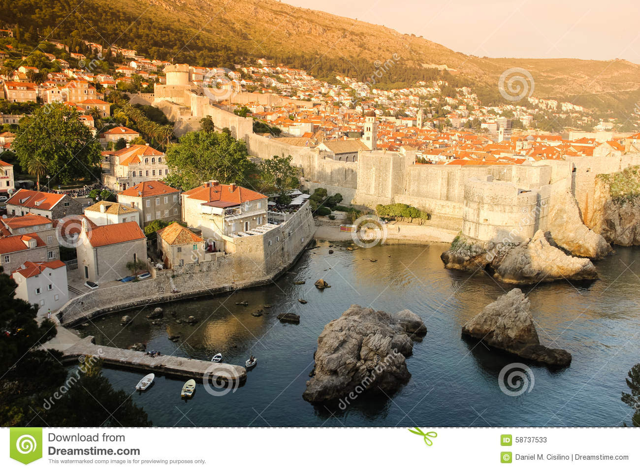 Harbour ramparts and citadel. Dubrovnik. Croatia