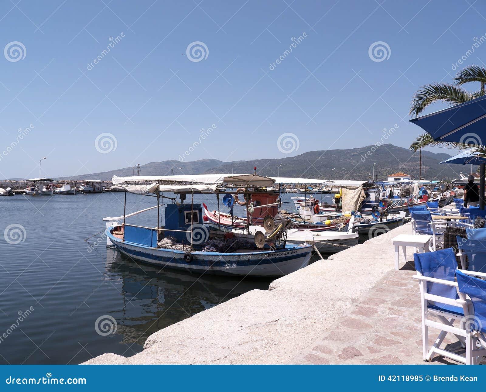 The Harbour at Skala Kalloni Lesvos Greece