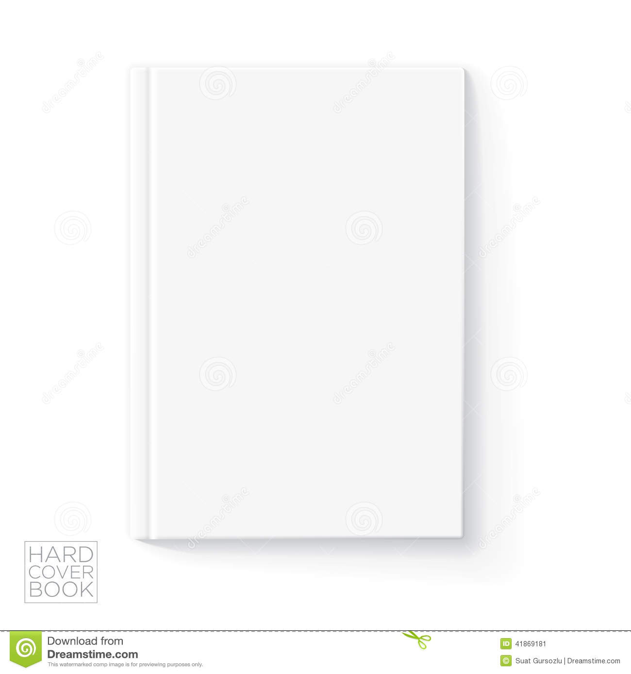 Hard cover book template stock vector image 41869181 for Book cover template illustrator
