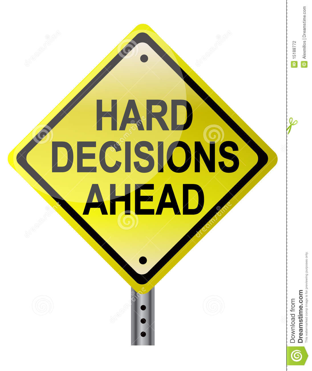 difficult decision Especially difficult decisions, ones bound to upset some individual or group, provoke knee-rattling anxiety in even the most level-headed of decision makers and because human beings abhor anxiety .