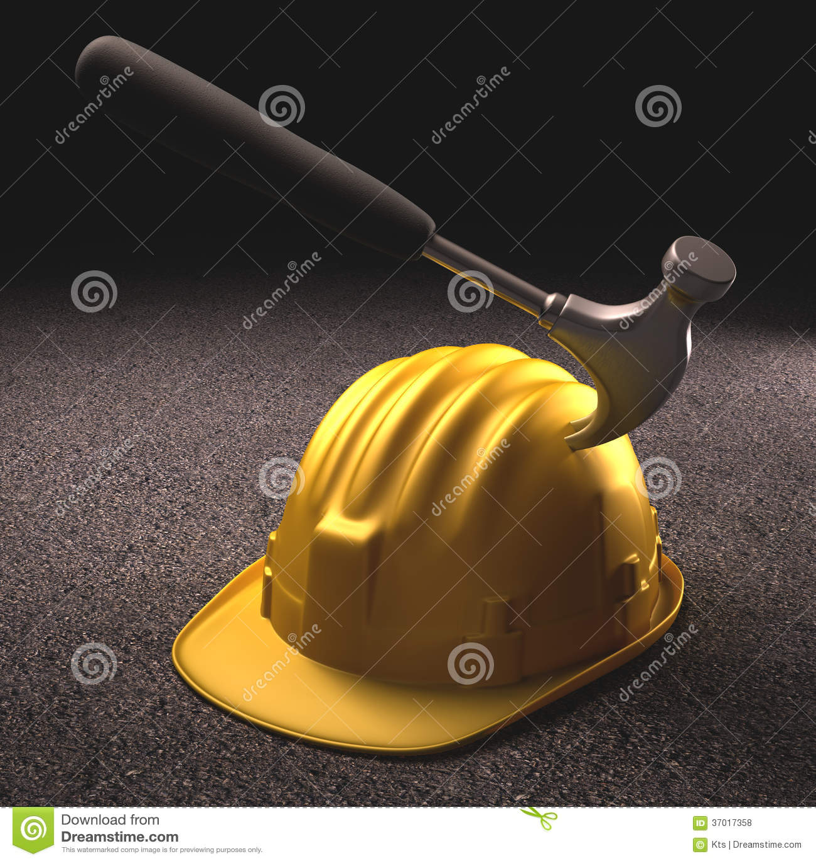 Hard Hat Accident stock illustration. Image of engineering ...