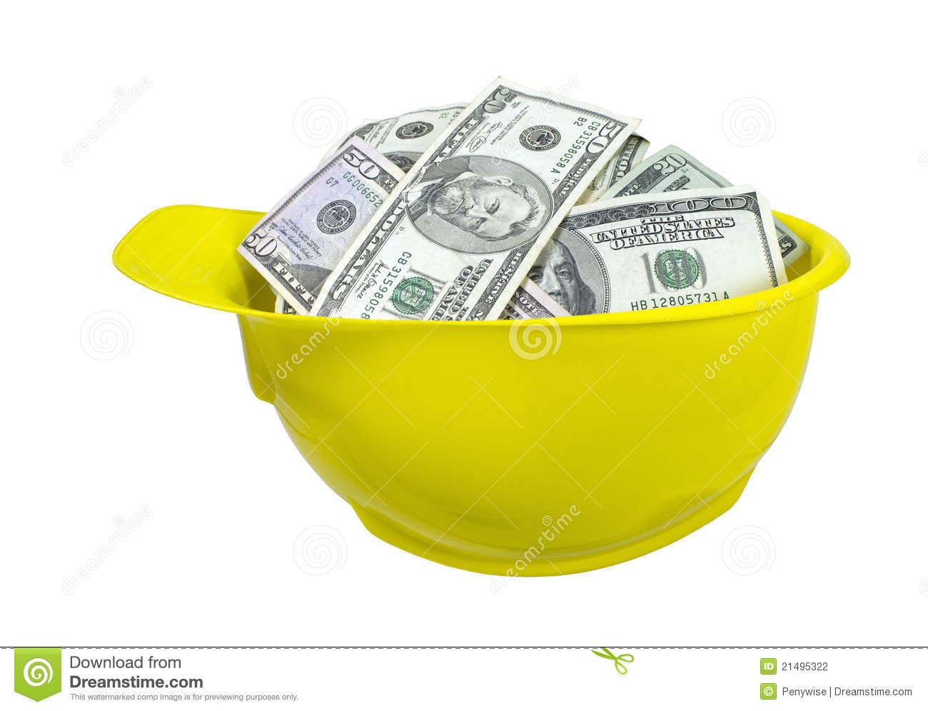 Hard Hat Full Of Money Stock Photography Image 21495322