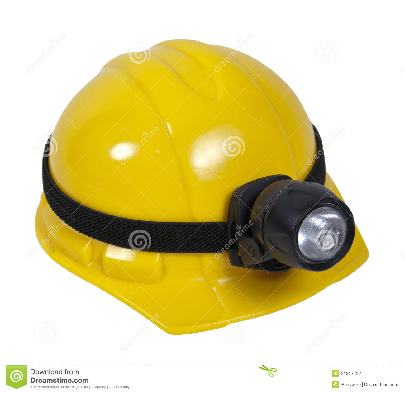 Hard Hat With Lamp Stock Photography - Image: 21817722