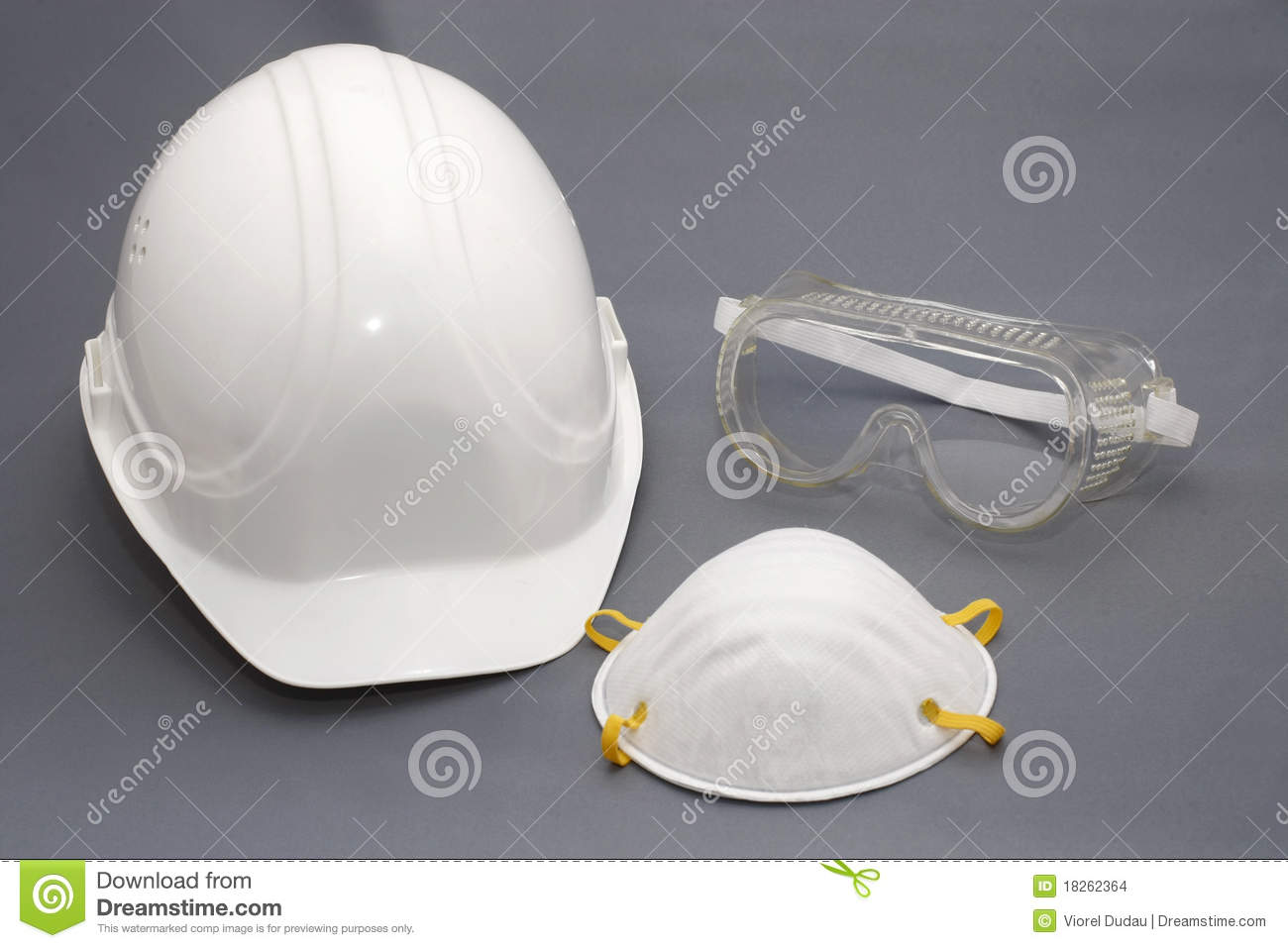 Hard Hat And Safety Protection Equipment Stock Photo