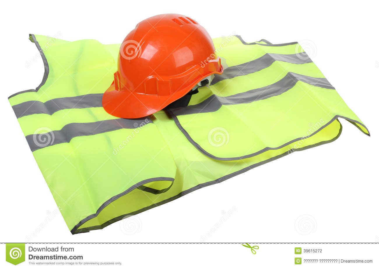 High Visibility Vest >> Hard Hat And Vest Stock Photo - Image: 39615272