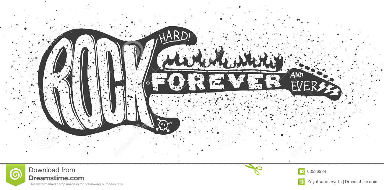Hard Rock Guitar Stock Vector Illustration Of Guitar 63586984