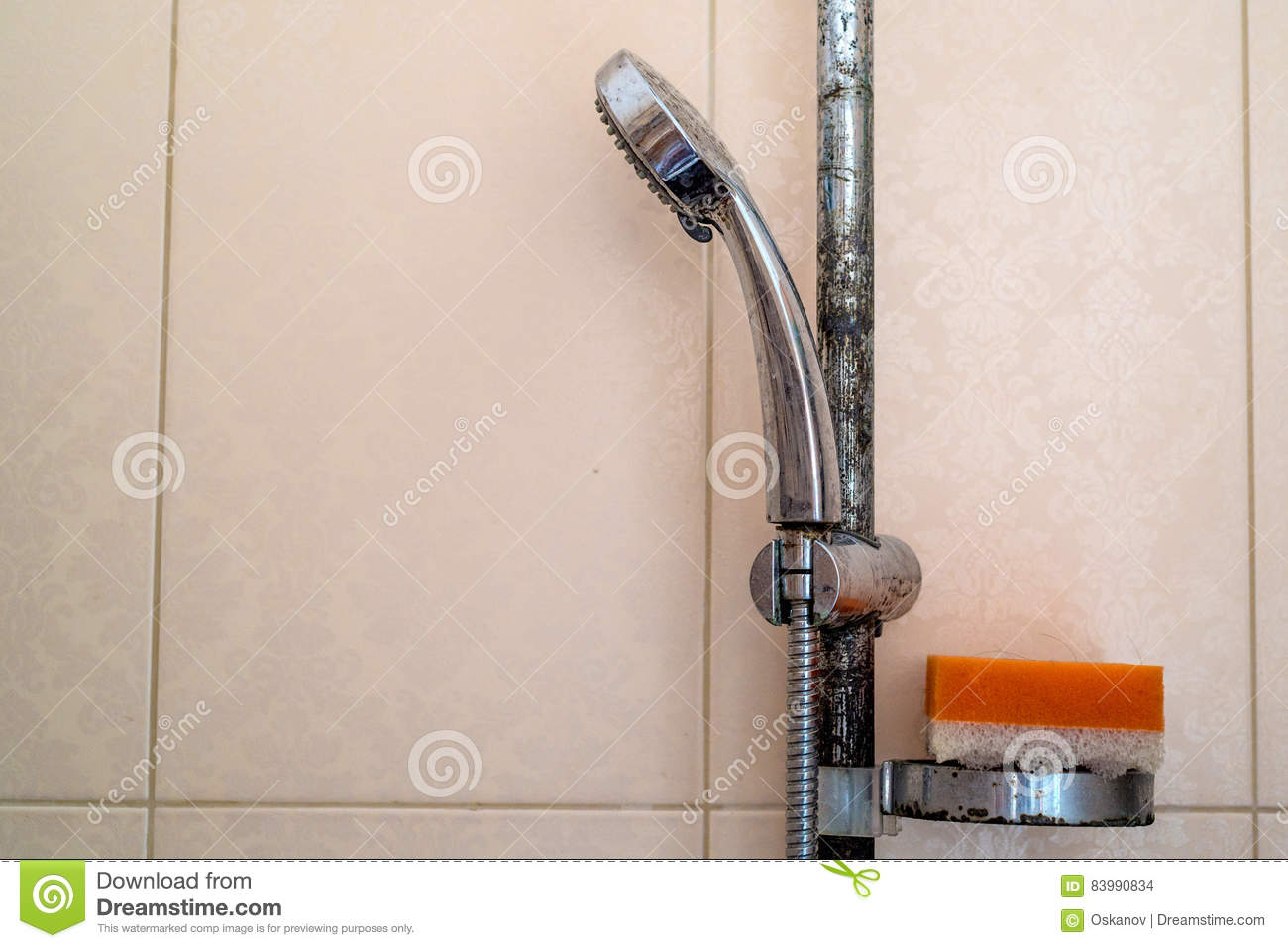 Hard Water Deposit And Rust On Shower Tap Stock Photo - Image of ...