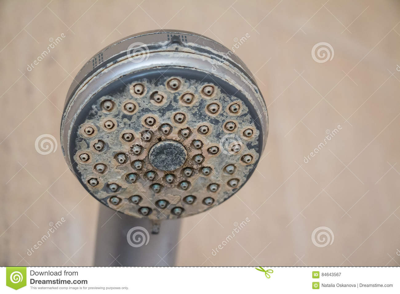 Hard Water Deposit And Rust On Shower Tap Stock Image - Image of ...