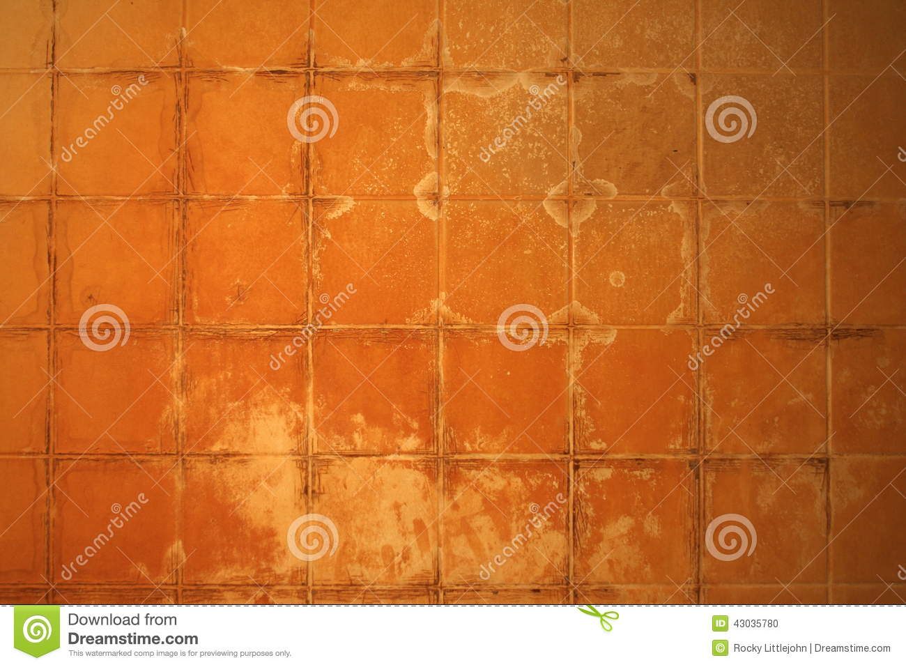 Hard Water Stained Fiberglass Tile Stock Photo - Image of iron ...
