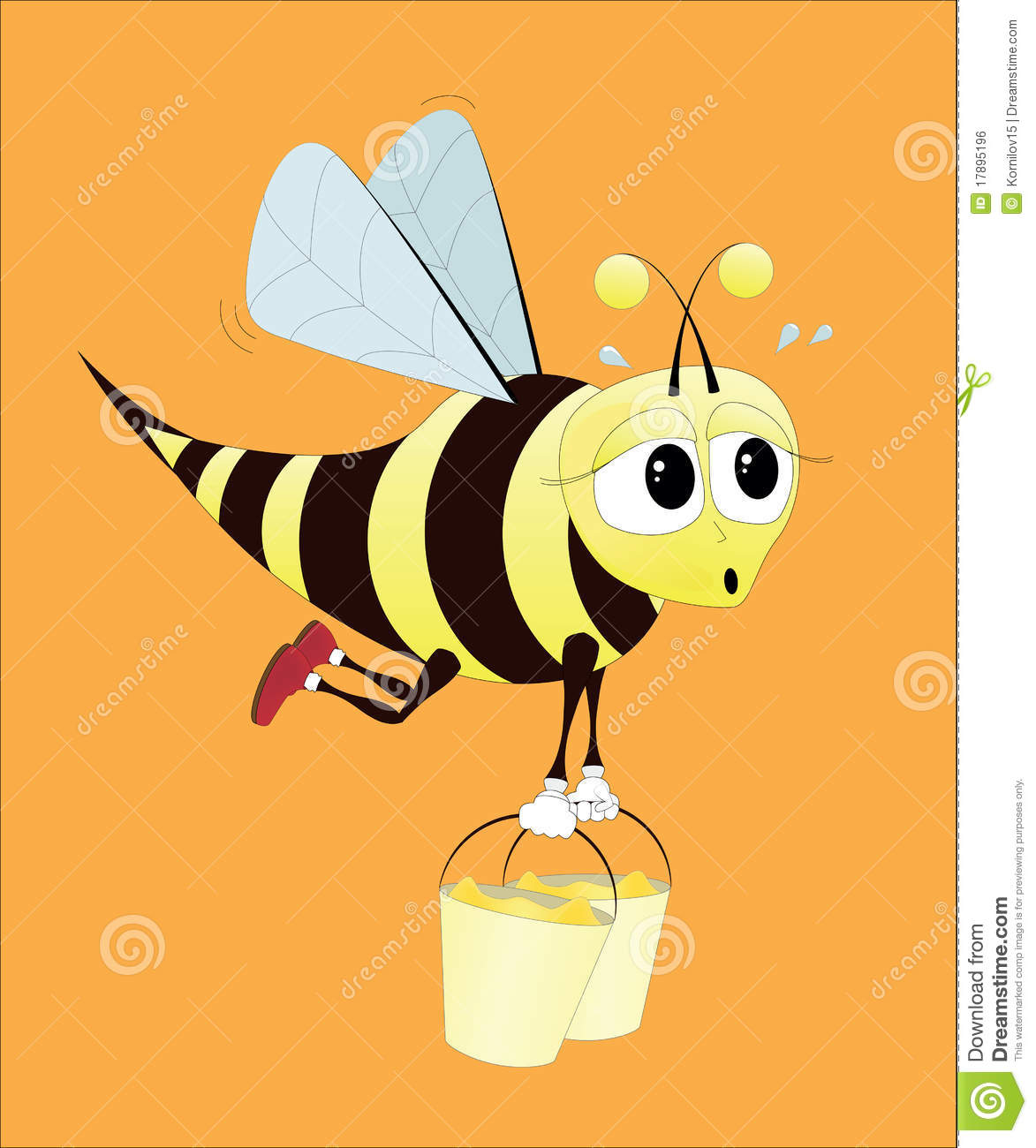 Happy Bee Royalty Free Vector Image  VectorStock