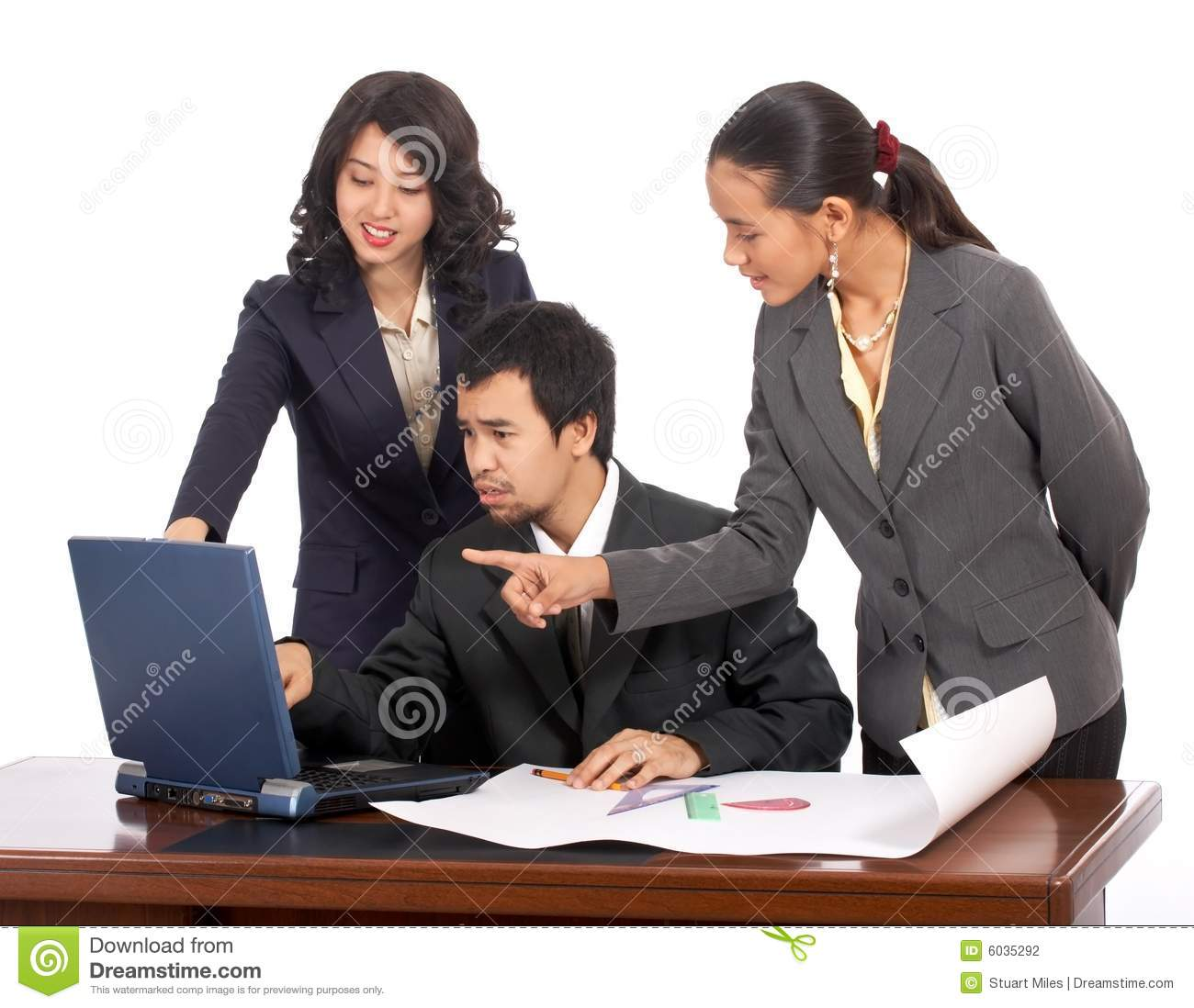 Hard Working Business Team Stock Photography - Image: 6035292