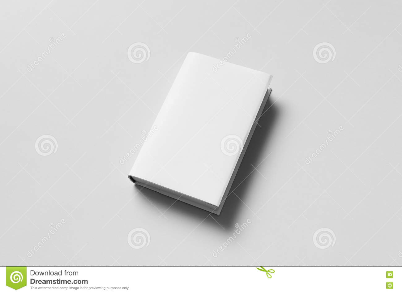 hardcover book mock up dust jacket stock image image of clean